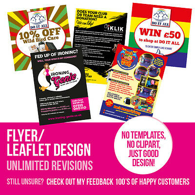 Flyer / Leaflet Design Service - Single/double Sided A5 Or A6 - Quick & Cheap