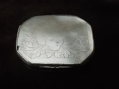 18th century Silver and Mother of Pearl  snuff box
