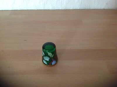 Green Glass Thimble