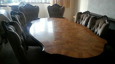 19th Centry table with 6 chairs