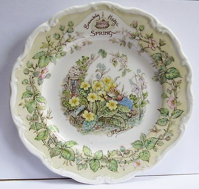 Nice Royal Doulton 1982 Brambly Hedge Collector's Plate Spring