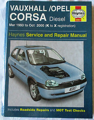 Vauxhall / Opel Corsa Haynes Service And Repair Manual-See Picture For  Models