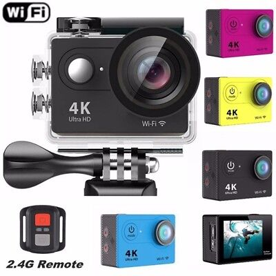 EKEN H9R Sports Action Camera 4K HD 1080p WiFi Remote 170° Wide Angle Camcorder