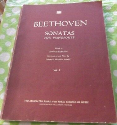 A BEETHOVEN Sonatas For Pianoforte Vol 1 of Sheet Music Book