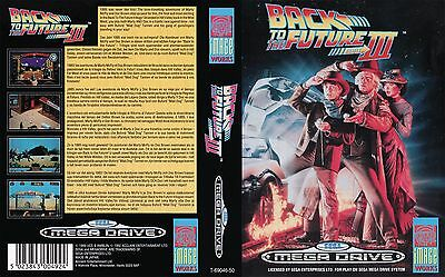 Back To The Future 3 Sega Megadrive Replacement Box Art Sleeves Insert Case Repr