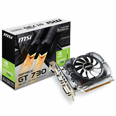 MSI N730-4GD3V2 PCI Express Graphics Cards MSI NVIDIA GT 730 4GB