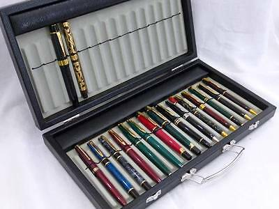 New Fountain Pen Collectors Display Carry Case For 30 Pens Or Pencils