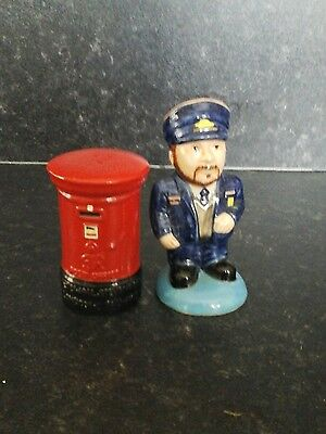 postman and postbox salt and pepper set