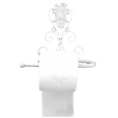 European Style Iron Toilet Roll Paper Holder Wall Mount Rack white V6W1