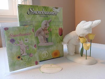 """Department 56 - Snowbunnies Easter """"I'll Pick You"""" #56.26355 Tulips"""