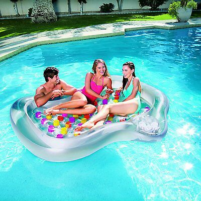 43045 Bestway Mattress inflatable double bed 218x183x30 swimming pool sea