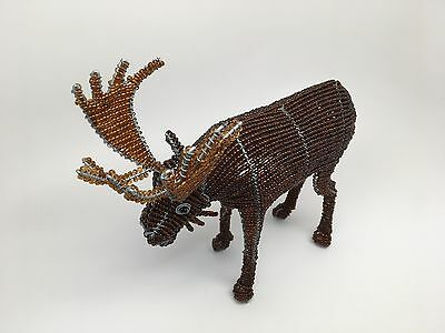 Beadworx Grass Root Hand-Crafted Beaded MOOSE