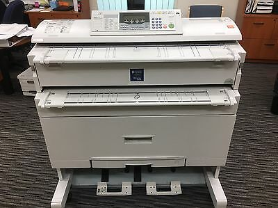 "USed Ricoh Aficio 240W 36"" wide Plotter, Scanner, & Copy plans with PC"