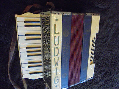 Very Rare Vintage Ludwig Piano Accordion From House Clearance