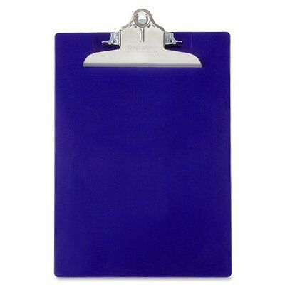 Saunders Durable Plastic Clipboard Paper Holder Office Supply Letter Size Blue
