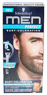 NEU Schwarzkopf MEN Perfect BART-COLORATION Beard Color Bartfarbe NATUR BRAUN