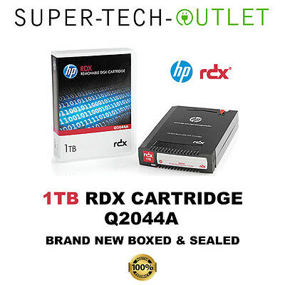 HP 1TB RDX Removable Disk Cartridge Blank Backup Tape Q2044A **BRAND NEW**