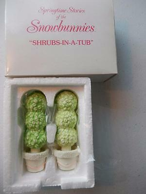 """Department 56 SHRUBS-IN-A-TUB Set of 2 #26140 Springtime (Approx 4"""" Tall)"""