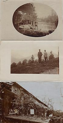 German soldiers, officer, 3 photographs set - WW1