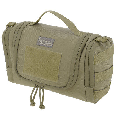 Maxpedition Aftermath Toiletry Pouch Compact Military Mens Travel Wash Bag Khaki
