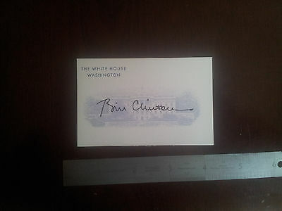 Bill Clinton  printed Signed Promo card  PRESIDENT USA