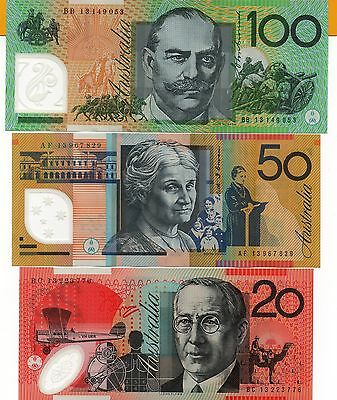 AUSTRALIA $100 $50 $20 $10 $5 2013 Stevens/Parkinson Full Set of 5 UNC Banknotes