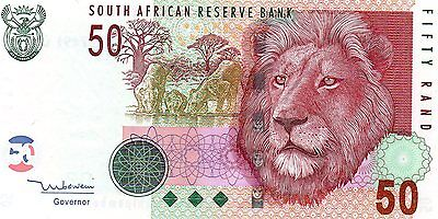 SOUTH AFRICA 50 Rand ND 2005 P130a Tito Mboweni UNC Banknote (two left)