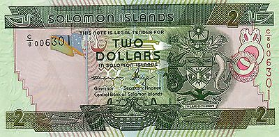 SOLOMON ISLANDS $2 Dollars ND 2013 P31? UNC Banknote