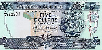 SOLOMON ISLANDS $5 Dollars ND 2006 P26 UNC Banknote