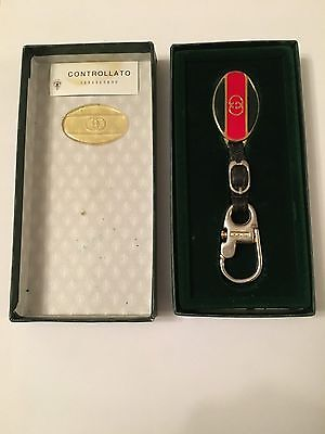 GUCCI Vintage (80's) KEYRING with Orig Box