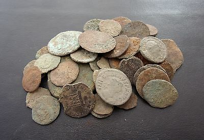 40 X ROMAN COINS uncleaned & unresearched 5