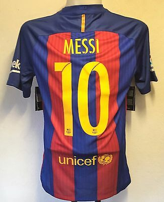 Barcelona 2016/17 S/s Home Shirt Messi 10 By Nike Size Medium Brand New With Tag