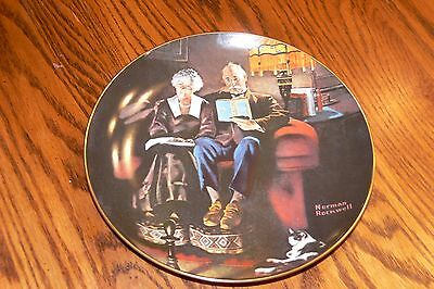 Norman Rockwell Light Campaign Collection Series Plate, Evening's Ease in box