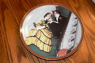 Norman Rockwell Treasured Memories Collection Series Plate Tender Romance in box