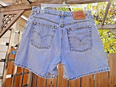 Levi denim jean shorts vintage high waist size 10