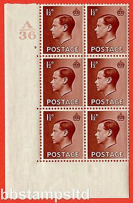 SG. 459. P3. ½d Red-Brown. A fine mounted mint. Control  A37 cylinder 9 no dot.