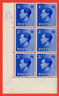 SG. 460. P4. 2½d Bright Blue. A fine mounted mint. Control  A36 cylinder 2 dot.
