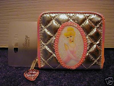 Disney Store Cinderella Silver Quilted Cameo Purse Stunning BRAND NEW!