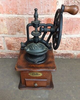 Cast Iron And Wood Coffee Grinder