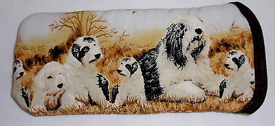 OLD ENGLISH SHEEPDOGS & puppies 2 - GLASSES CASE Ideal small gift