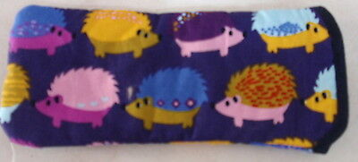 Bn- Bright Coloured Hedgehogs All Over   Glasses Case- Cotton