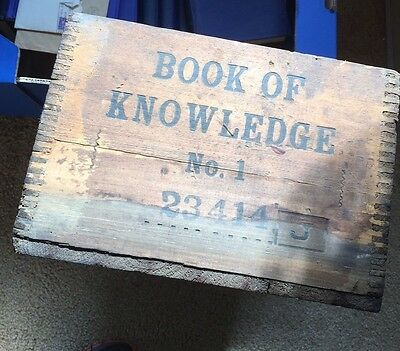 1938 Wooden Shipping Crate- Grolier books - Philadelphia -No Reserve