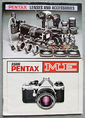 Asahi Pentax Me Instruction Manual + Lenses & Accessories Brochure