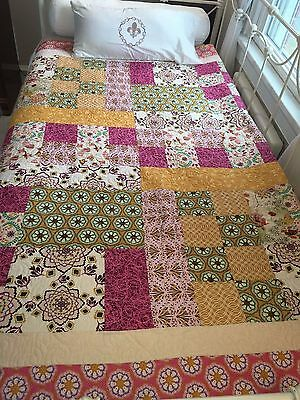 "Quilt ( Patchwork ) – Dream Catcher – Exotic and Cozy Quilt – 66"" x 68"""