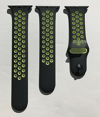 New Apple Watch Series 2 Nike+ 42mm Black Volt Sport Band Nike S/M & M/L OEM