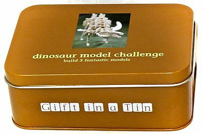 Dinosaur Model Challenge - Gift In A Tin 3 Models Inc Instructions New