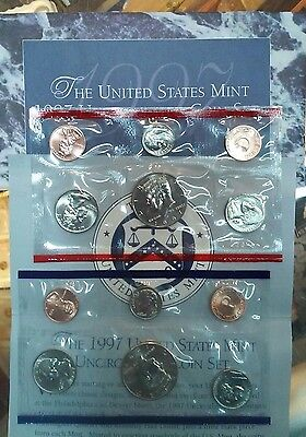 1997 United States US Mint Uncirculated Coin Set