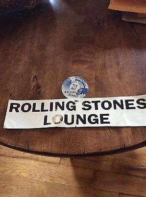 The Rolling Stones Orginal Cloth Backstage Pass & Sign 09/09/89 Alpine Valley WI