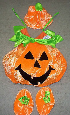 Infant Toddler Halloween Costume Pumpkin Jack O Lantern Adorable Size 1-2 Years