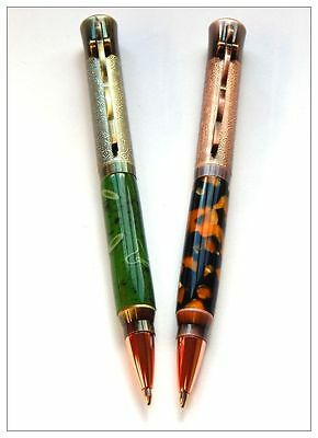 Woodturning Xiangyun Lever Action Pen Kits - Antique Rose Copper / Bronze Polish